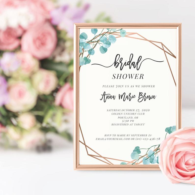 Bridal shower card Bridal Shower Invitation pdf Shower Invite Invitation Template 006 Printable Baby Shower Invitation