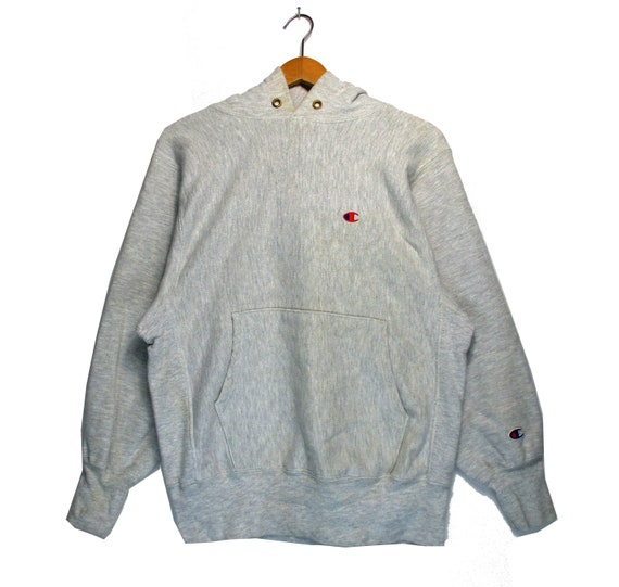 Vintage Champion Reverse Weave Small Logo White Co