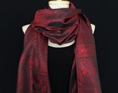 Thai silk Scarf,Gift for her,shawl,festival scarf,colorful scarf,scarves,paisley,boho scarf,hippie scarf,bohemian scarf,gypsy,woman scarf