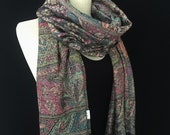 Pashmina Scarf,paisley,shawl,festival scarf,colorful scarf,scarves,cashmere scarf,boho,hippie scarf,bohemian,Wrap,soft scarf,unisex scarf