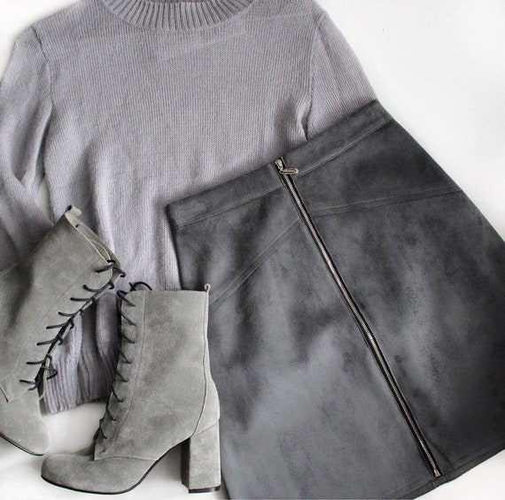 b6ff8598aa Faux Leather Skirt/ High Waist Skirt/ Women Skirt/ Casual | Etsy