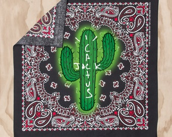 cad076f6513b89 Black Cactus Jack Travis Scott Bandana Astroworld Bandana Travis Scott Tour  Bandana Travis Scott Merch Cactus Jack Merchandise