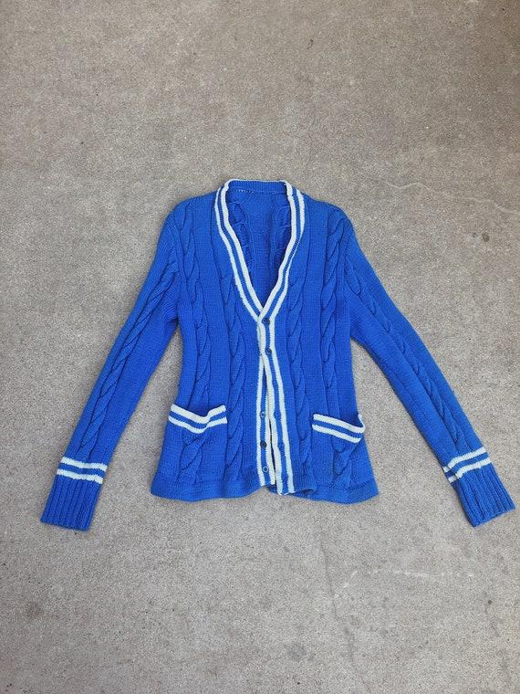 Vintage varsity sweater cardigan