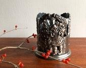 Godinger Pewter Santa Votive Candle Holder