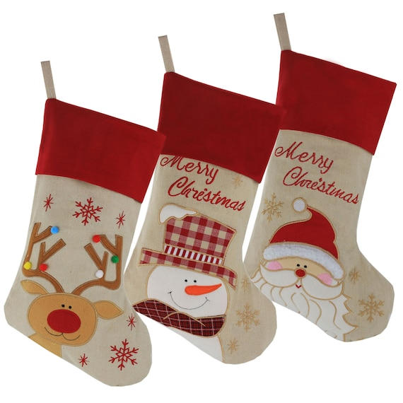 5 Red Stocking with Name 5 Personalized Christmas Stockings Christmas Stockings Personalized with Name