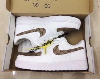 09b8a29d19e Nike GUCCI Air Force 1 Luxury Designer Custom Sneaker