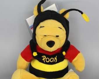 "The Disney Store Retired Original ""Bumble Bee Pooh"" Beanie Baby 4927414d138f"