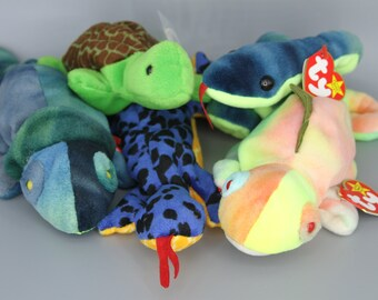 69a415b692c Ty Original Beanie Baby Reptiles Collection