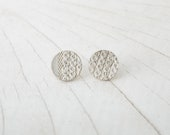 Sterling Silver Earrings - round - unique piece from the Paillettes collection