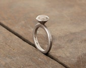 Oxidized Silver Ring 925  - unique piece from the Stones collection