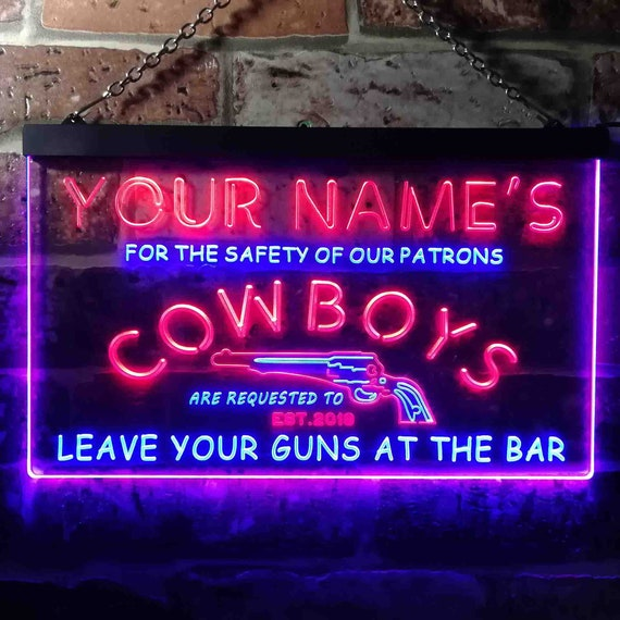 Personalized Name Est Year Garage Man Cave Dual Color LED Neon Sign st6-pp1-tm