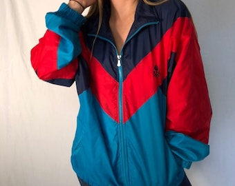 6dd43611f6fda7 90s Vintage USA Olympic Windbreaker