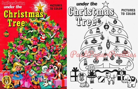 Free Printable Vintage Christmas Coloring Pages - Coloring Home   368x570