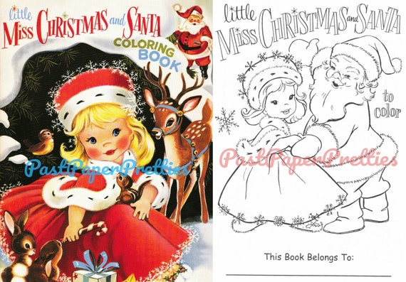 - Vintage Printable Coloring Pages Little Miss Christmas Etsy