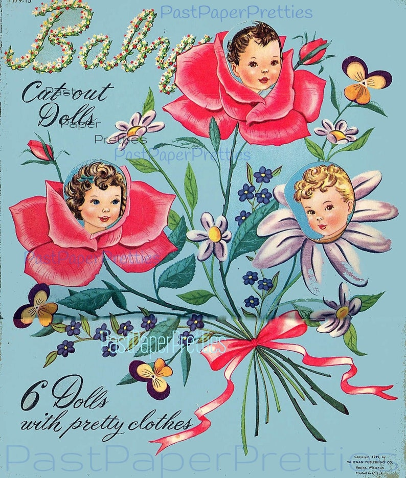 photograph about Printable Vintage Paper Dolls known as Traditional Paper Dolls Boy or girl Minimize-Out Dolls circa 1949 Printable Fast Electronic Obtain Lovable Baby Toddlers PDF JPEG