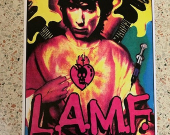 JOHNNY THUNDERS rare signed numbered Art print by Adam Turkel Glam Rock Pop Art New York Dolls PUNK poster l.a.m.f. d.t.k. Heartbreakers