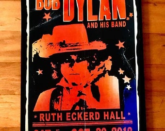 BOB DYLAN rare signed gig poster by artist Adam Turkel - Florida 2018 Classic Rock Pop Art