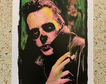 JOE STRUMMER The Clash rare signed numbered Skull Art print by Adam Turkel Punk Rock Punk New Wave