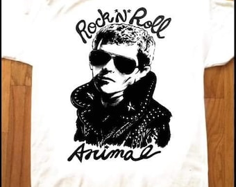 LOU REED Rock N Roll Animal T-Shirt by Adam Turkel Velvet Underground PUNK Glam New York Pop Art Limited Edition