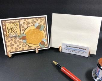 Golden Get Well Card