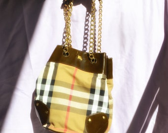 8cf5b7a383b9 Burberry nova check bucket bag