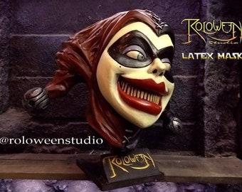 628fb80f5195f Harley quinn latex mask joker love-- full head-- never seen