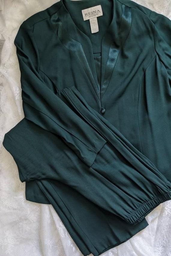 Green Reina Vintage Pantsuit