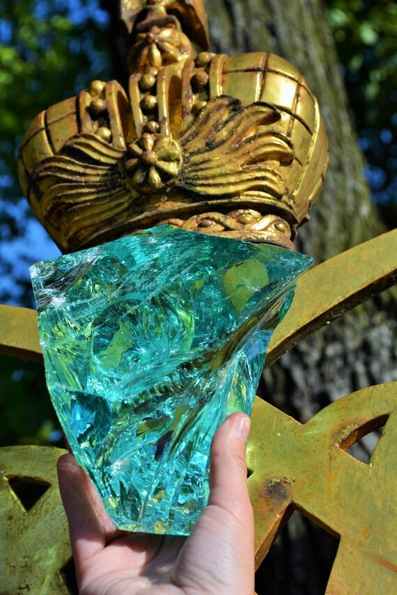 Slag Glass Clear Rock, Slag Glass Chunks