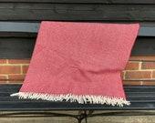 Red Herringbone Blanket