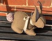 Bunny Doorstop - Light Brown