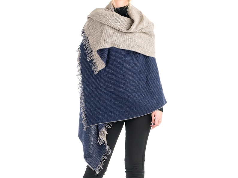 Angiola Made in Italy Womens Virgin Wool Herringbone Animalier Faux Fur Home Slippers