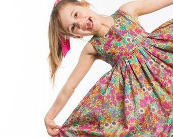 1410291fb2b Girls Liberty Tana Lawn occasion dress