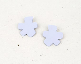 Super fun, playful, unique shape medium sized polymer clay stud earring // Collection: Pop!