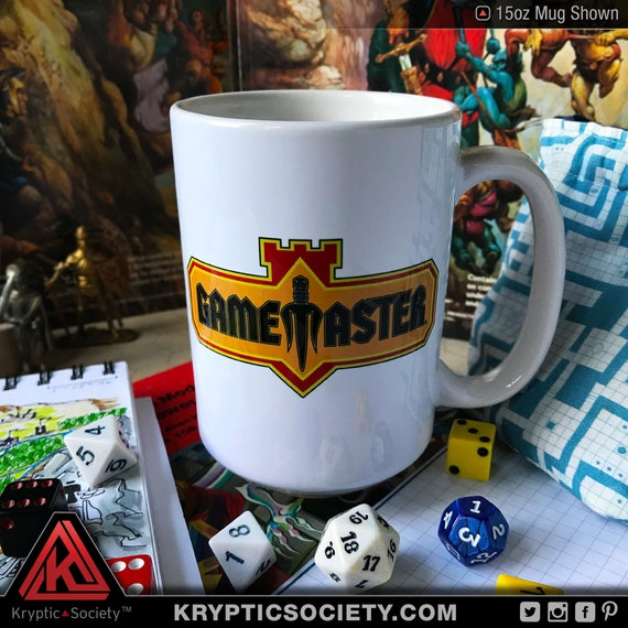 Game Master D20 Dice Tower Coffee Mug 5e Dnd Tabletop Fantasy Rpg Cup Free Shipping Kryptic Society