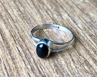 180af06a599c5 Silver onyx ring | Etsy