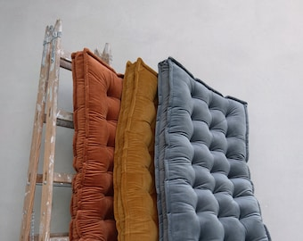 Custom Cushion, Daybe cushion , Daybed Mattress, French Mattress,  Window Seat, Bench Cushion, Headboard, Luxury velvet Floor Cushion Yoga