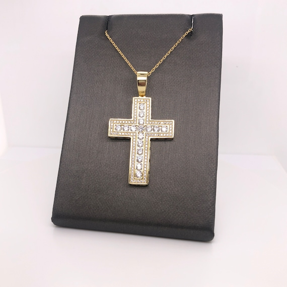 31 mm Jewels Obsession Cross With Jesus Pendant Sterling Silver 925 Cross With Jesus Pendant