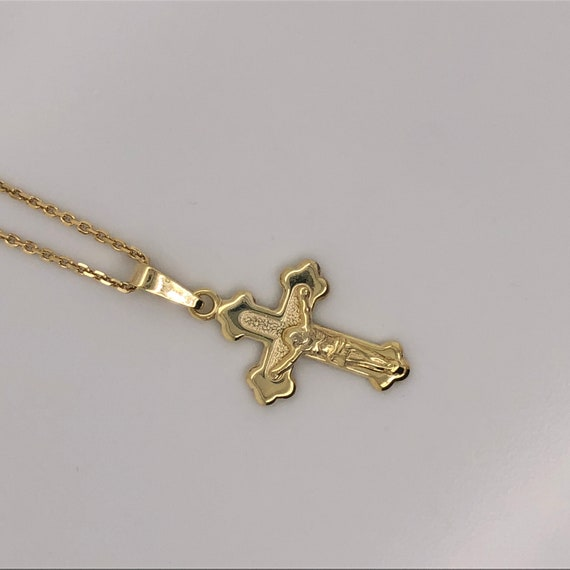 Jewels Obsession Mariners Cross//Crucifix Necklace 14K Rose Gold-plated 925 Silver Mariners Cross//Crucifix Pendant with 16 Necklace