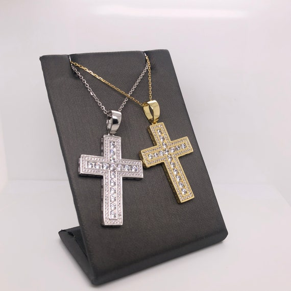 Sterling Silver 925 Cross With Jesus Pendant Jewels Obsession Cross With Jesus Pendant 31 mm