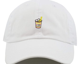 5b87859282a84 Unisex Cup of Noodles Low Profile Embroidered Baseball Dad Hat (FREE  SHIPPING)