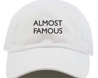 d17511baa295a Almost Famous Text Embroidered Low Profile Soft Crown Unisex Baseball Dad  Hat (FREE SHIPPING)