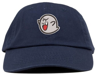 dd8d87d4a859b Ghost Boo Embroidered Low Profile Soft Crown Unisex Baseball Dad Hat (FREE  SHIPPING)