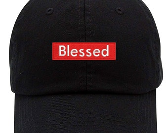 dd5c26bd879e28 Blessed Logo Embroidered Low Profile Soft Crown Unisex Baseball Dad Hat  (FREE SHIPPING)