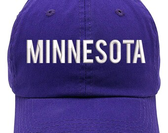 finest selection 844ff 29df3 Top Level Apparel Minnesota Text Anchor Embroidered Low Profile Soft Crown  Unisex Baseball Dad Hat (FREE SHIPPING)