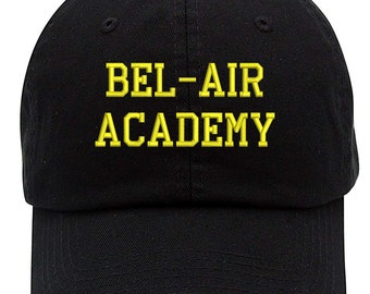 db1c4fc1 Bel-Air Academy Text Embroidered Low Profile Soft Crown Unisex Baseball Dad  Hat (FREE SHIPPING)