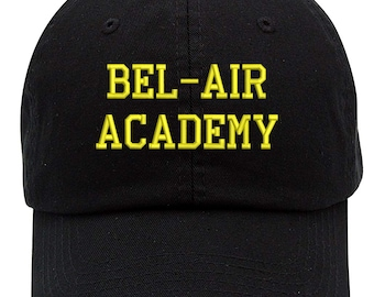 6625a2964d5b8 Bel-Air Academy Text Embroidered Low Profile Soft Crown Unisex Baseball Dad  Hat (FREE SHIPPING)