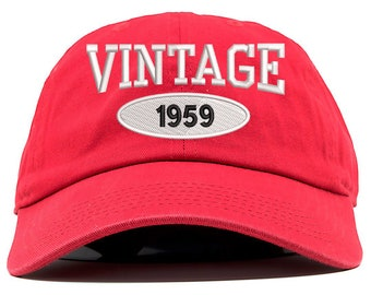 16691a73ed293 Vintage 1969 Embroidered 50th Birthday Relaxed Dad Hat (FREE SHIPPING)