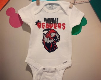 e3ae20abe Mini Reapers Softball Onesie, Mini Reapers, Reapers, SAMCRO, SOA, Sons of  Anarchy, Softball Team, Softball, SONS, Motorcycle Club