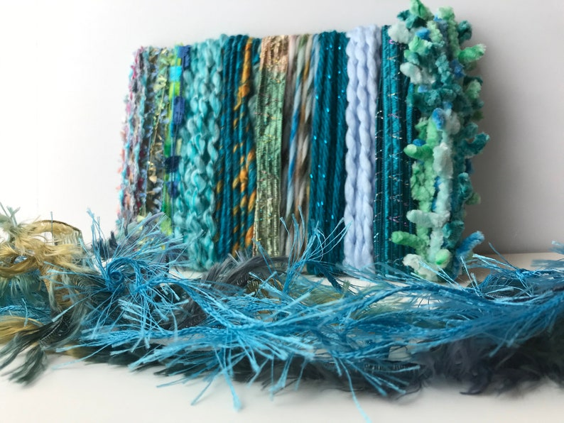 Paradise Found MEGA novelty fiberyarntrim bundle 26 yds for weaving junk journals and much more! dream catchers gift wrapping