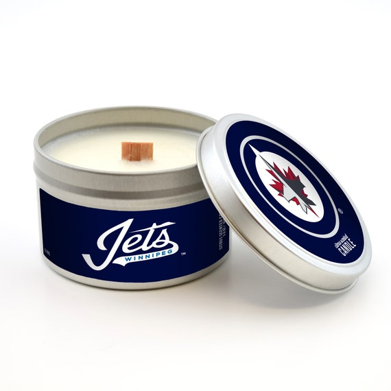 Nhl Winnipeg Jets Candle In Travel Tin With Quietly Crackling Etsy